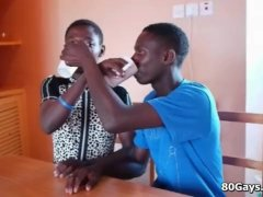 Black African Youngsters Sucky-sucky And Pee Party