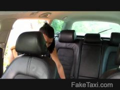 FakeTaxi - Innocent girl takes on a huge cock