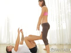 Fantasyhd - Fit Julia Roca Tries Yoga Sex