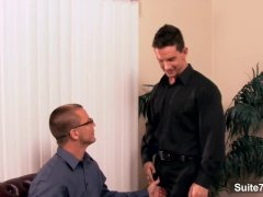 Lusty Gay In Glasses Gargle Cock