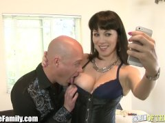 Whorey Mommy Stuck Butt-banging Son-in-law