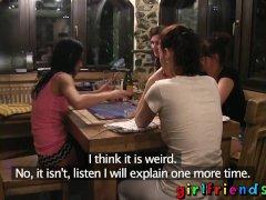 Girlfriends Lesbian Lovemaking By The Fire