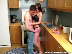 Casual Fuck In A Kitchen