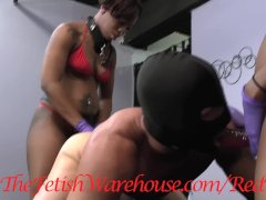 Two Ebony Girls DP a White Muscle Boy