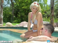 Horny Blonde Gets Revenge W Buddies Brother