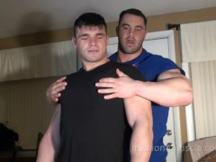 Muscle Stud Nude Stripping