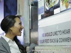 Wicked - Asa Akira Receives A Few Food Van Cock