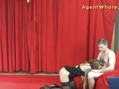 Milf Agent Whore Offers Bj to Younger Sexy Lengthy Dick