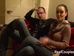Kinky wife in PVC with crossdressing husband