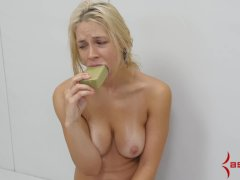Painful anal punishment with soapy facefuck