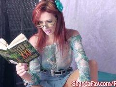 Shanda Fay Sucks Cock Through Glory Hole!