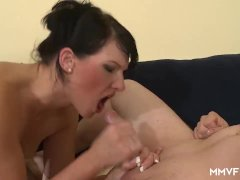 MMV FILMS Amateur Bukkake for German slut