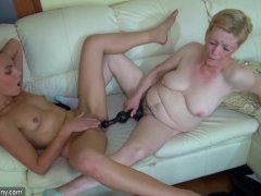 Vintage Granny Masturbating With Horny Teenager