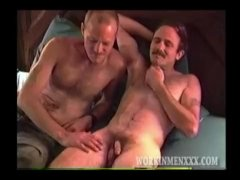 Hairy Dangled Mature And Straight Fellows Playing Gay