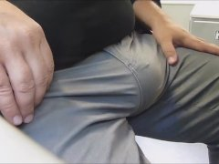 Bulging Pants And Jerking Off