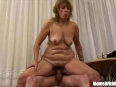 Cock Hungry Blonde Mama Fucked via  Attractive Teenager