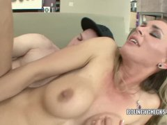 Tanya Tate fucks and takes the cum on her tit