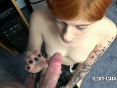 Ava Little gives a point of view blowjob