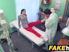 Fake Hospital Doctor prescribes sticky facial to help heal sexy brunette