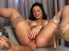 Shemale Bruna Castro gets her prostate fingered
