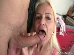 Old Granny Offers Head and Fucks Son-in-regulation