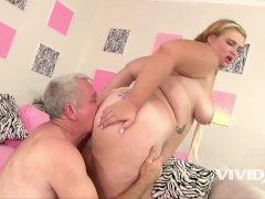 Vivid - Fat slut Tiffany pleases an old fart