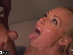 Kayden Kross gives his dick a handshake