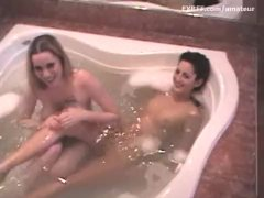 Busty Mom Seduces Skinny Younger Attractive Teenager Brat in Tub Tub