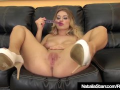 Sweet Dirty Blonde Natalia Starr Dildo Bangs Her Juicy Pussy
