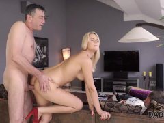 DADDY4K. Buxom beauty has to satisfy needs with dad's hard prick