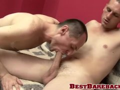 Freaky cumeater moans hard while getting hammered raw