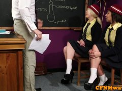 Dominant College Girl Humiliate Nude Teacher