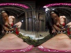 VRBangers Amazing Wonder Woman cosplay fuck VR Porn video