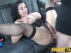 Fake Taxi Huge meaty pussy lips hang over and grip big drivers dick
