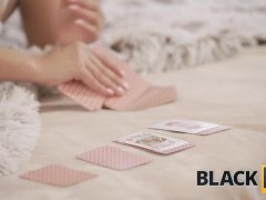 Black4k. Playful Hottie In Sexy Lingerie Is Not Interested In Cards