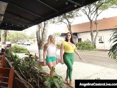 Cuban Plumper Angelina Castro Strapon Bangs Latina Cristi Ann!