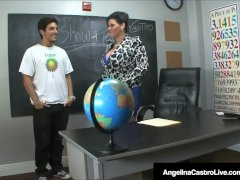 Cuban Professor Ms. Angelina Castro Gives Bj & Feetjob Exam!