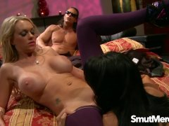 MILFs Brooke Belle and Zoey Holloway Lesbian Fun Turns into a Threesome