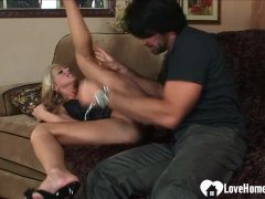 Naughty Blondie Wifey Desires To Get Boned