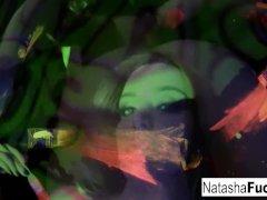 Busty Natasha Shoots A Joy And Luxurious Dark-hued Light Video