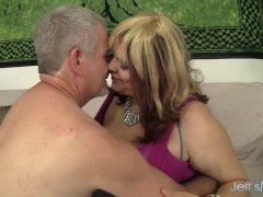 Chubby Ditzy Huge-titted Bella Gets Down With A Kinky Geezer