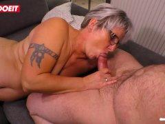 LETSDOEIT - Slutty German Housewife Seduced By Husband Friends