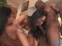 Asa Akira interracial threesome
