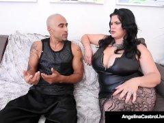 Thick Cuban Angelina Castro & King Noire Poke Cougar Sara Jay!