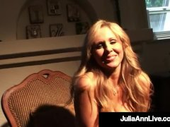 Hot Taunting Milf Julia Ann Touches Herself In Fishnets!