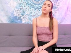Naughty Kimber Lee Displays Step-father How She'll Be Good!