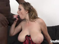 Busty Lara Ann Rides a Huge Dildo Before Taking a BBC in Every Hole
