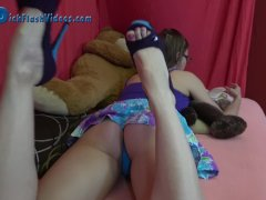 Teen Schoolgirl Upskirt Dick Flash by Creepy Stepfather