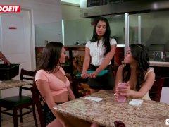 LETSDOEIT - Karlee Grey Makes It Rain Over Gina's Face In a Restaurant