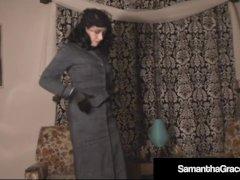 Samantha Mercy Gets Remote Managed & Disrobes Herself!